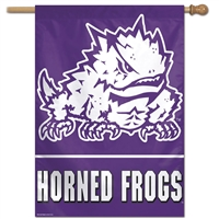 "Tcu Horned Frogs Banner/vertical Flag 27"" X 37"""