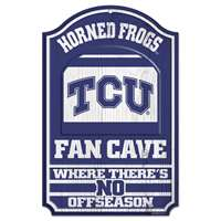 TCU Horned Frogs Fan Cave Wood Sign