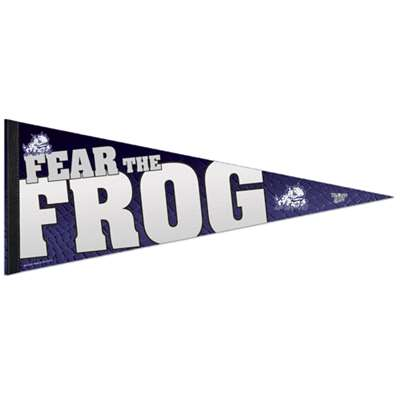 "Tcu Horned Frogs Premium Pennant - 12"" X 30"" - Fear the Frog"