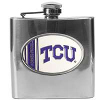 TCU Horned Frogs Stainless Steel Hip Flask