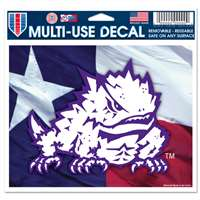 "Tcu Horned Frogs Ultra Decal 5"" x 6"""