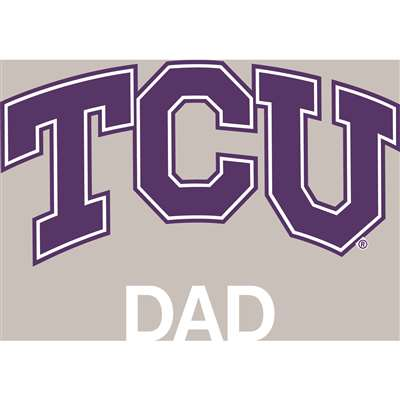 TCU Horned Frogs Transfer Decal - Dad