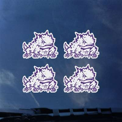 TCU Horned Frogs Transfer Decals - Set of 4