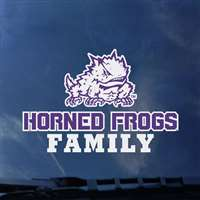 TCU Horned Frogs Transfer Decal - Family
