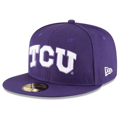 TCU Horned Frogs New Era 5950 Fitted Baseball - Purple