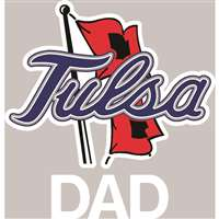Tulsa Golden Hurricanes Transfer Decal - Dad