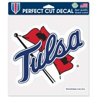 "Tulsa Golden Hurricanes Full Color Die Cut Decal - 8"" X 8"""
