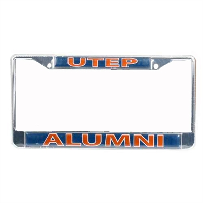 Texas El Paso Miners Alumni Metal License Plate Frame W/domed Insert