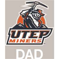 Texas El Paso Miners Transfer Decal - Dad