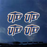 UTEP Miners Transfer Decals - Set of 4