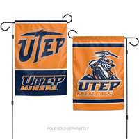 "UTEP Miners Garden Flag By Wincraft 11"" X 15"" - 2-Sided"