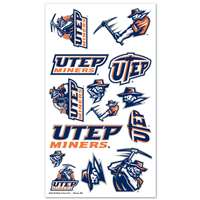 UTEP Miners Temporary Tattoos