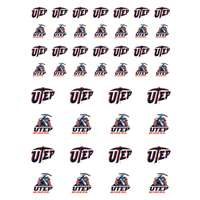 UTEP Miners Small Sticker Sheet - 2 Sheets
