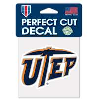 "UTEP Miners Full Color Die Cut Decal - 4"" X 4"""