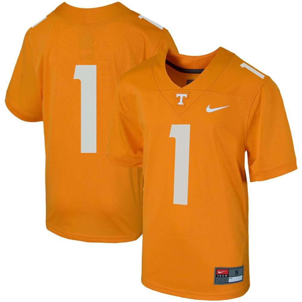 Nike Tennessee Volunteers Youth Football Jersey - #1 Orange