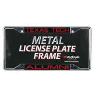 Texas Tech Red Raiders Metal Alumni Inlaid Acrylic License Plate Frame