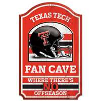Texas Tech Red Raiders Fan Cave Wood Sign