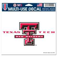 "Texas Tech Red Raiders Ultra Decal 5"" x 6"""