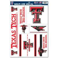 Texas Tech Red Raiders Ultra Decal Set - 11'' X 17''