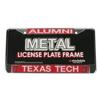 Texas Tech Red Raider Alumni Metal License Plate Frame W/domed Insert