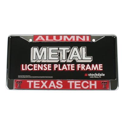 Texas Tech Red Raider Alumni Metal License Plate Frame W
