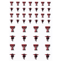 Texas Tech Red Raiders Small Sticker Sheet - 2 Sheets