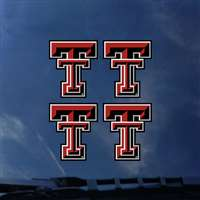 Texas Tech Red Raiders Transfer Decals - Set of 4