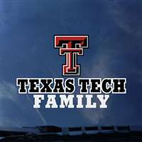 Texas Tech Red Raiders Transfer Decal - Family