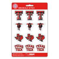 Texas Tech Red Raiders Mini Decals - 12 Pack