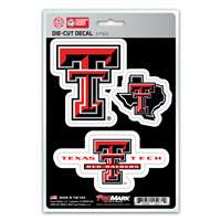 Texas Tech Red Raiders Decals - 3 Pack