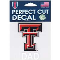 Texas Tech Red Raiders Perfect Cut Decal - Dad
