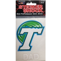Tulane Green Wave Transfer Decal - Dad