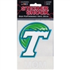 Tulane Green Wave Transfer Decal - Mom
