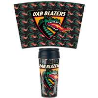 Alabama Birmingham Blazers 16oz Plastic Travel Mug