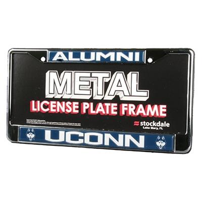 Uconn Huskies Alumni Metal License Plate Frame W Domed Insert