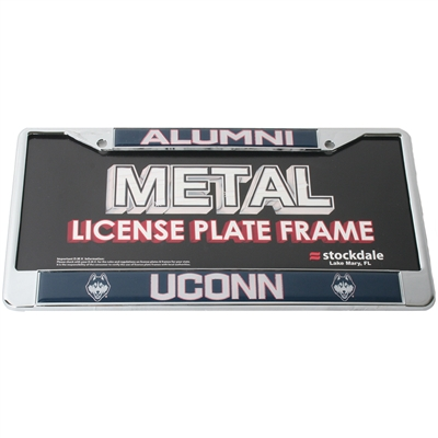 Uconn Huskies Alumni Metal License Plate Frame W Domed