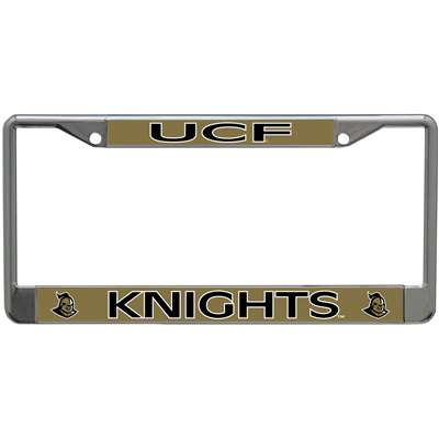 Central Florida Knights Metal License Plate Frame W Domed
