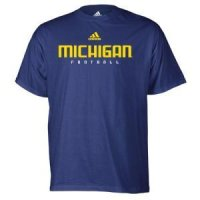 Michigan Adidas S/s Football Tee