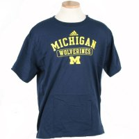 Adidas Michigan Wolverines Short Sleeve Team T Shirt