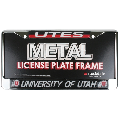Utah Utes Metal License Plate Frame W Domed Insert