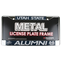Utah State Aggies Metal License Plate Frame W/domed Insert