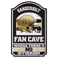 Vanderbilt Commodores Fan Cave Wood Sign