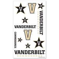 Vanderbilt Commodores Temporary Tattoos