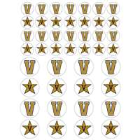 Vanderbilt Commodores Small Sticker Sheet - 2 Sheets