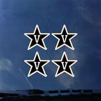 Vanderbilt Commodores Transfer Decals - Set of 4