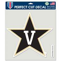 "Vanderbilt Commodores Full Color Die Cut Decal - 8"" X 8"""