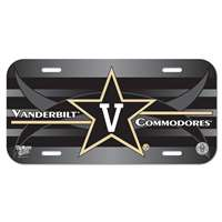 Vanderbilt Commodores Plastic License Plate