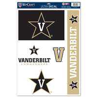 "Vanderbilt Commodores Multi-Use Decal Set - 11"" x 17"""