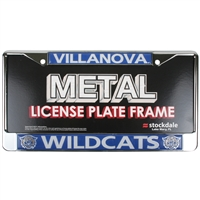 Villanova Wildcats Metal License Plate Frame W/domed Insert
