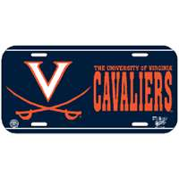Virginia Cavaliers Plastic License Plate